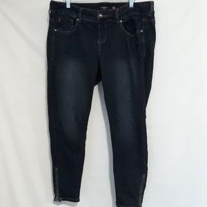 Torrid ankle zipper jeans